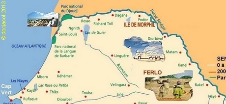 senegal, carte du Ferlo