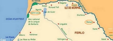 senegal carte nord